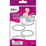 Étiquettes solubles ovales Avery SOLUB18 A6 Blanc 55 x 30 mm 18 Unités