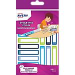 Étiquettes stylos Avery pour garçons A6 Assortiment 50 x 10 mm 30 Unités
