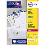 Étiquettes adresse Avery L7160 15 Blanc 63,5 x 38,1 mm 15 Feuilles de 21 Étiquettes