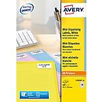 Étiquettes organisation mini Avery L7654 15 45,7 x 25,4 mm Blanc 45,7 x 25,4 mm 15 Feuilles de 40 Étiquettes