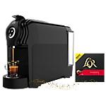 Machine à café + 500 capsules Splendente L'OR Lucente Pro   Noir