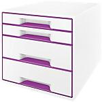 Module à tiroirs Leitz WOW 28,7 x 36,3 x 27 cm Violet