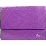 Chemise à poche Exacompta A4 Violet Carte lustrée pelliculée