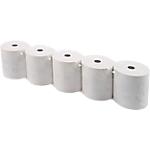 Bobines caisses 12 mm Exacompta Papier thermique sans phénol 80 mm x 80 mm x 12 mm x 76 m   10 Rouleaux