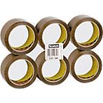 Ruban adhésif d'emballage Scotch 50 mm x 66 m Brun 6 Rouleaux