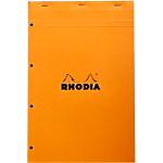 Bloc de bureau Rhodia N°20 A4+ Quadrillé Orange   80 Feuilles