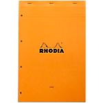 Bloc de bureau Rhodia A4+ Ligné Orange   80 Feuilles