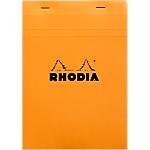 Bloc de bureau Rhodia Standard A5 Quadrillé Orange   80 Feuilles
