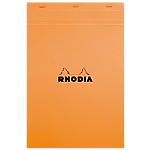 Bloc de bureau Rhodia A4 Quadrillé Orange   80 Feuilles