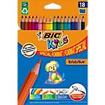Crayons de couleur BIC Eco Evolution Assortiment   18 Unités