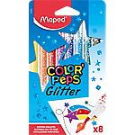 Feutre Maped Color Peps Glitter Assortiment   8 Unités