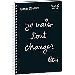 Agenda semainier Quo Vadis Ben Minister 2020 2020 Noir, blanc