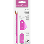 Set crayon graphite Faber Castell Sparkle Pearl   4 Unités