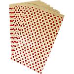 Sachet de pochettes Clairefontaine Pois Kraft, rouge   50 Unités