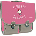 Cartable Quo Vadis Shaman Poulette en baskets Rose, gris
