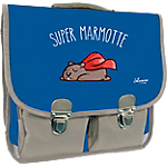 Cartable Quo Vadis Shaman super marmotte Bleu, gris
