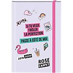 Agenda scolaire Oberthur Rose Carpet 1 Jour par page 2019, 2020 Rose