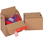 Caisse carton Eurobox Kraft Cannelure E 20 x 15 cm