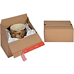 Caisse carton Eurobox Kraft Cannelure b 30 x 15 cm