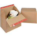Caisse carton Eurobox Kraft Cannelure B 40 x 30 cm