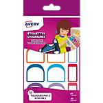 Étiquettes chaussures Avery A6 Assortiment 2 Feuilles de 12 Étiquettes