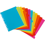 Intercalaires Viquel Happy Fluo Maxi A4 Assortiment Perforé PP 2
