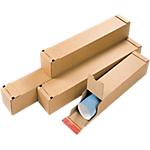 Tube postal carré adhésif Carton 108 (l) x 108 (P) x 430 (H) mm Marron