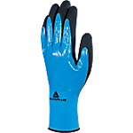 Gant tricot Deltaplus Polyamide, nitrile Taille 7 Bleu, noir