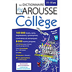 Le dictionnaire du collège Larousse 22,6 (H) x 14,8 (l) cm Bleu et blanc