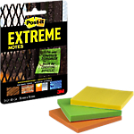 Notes adhésives Post it Extreme 76 x 76 mm Jaune, Vert, Orange 3 Unités de 45 Feuilles