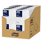 Serviettes à repas Tork 30 x 30 cm Blanc   100 Unités