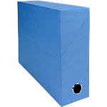 Boîte transfert Exacompta Papier toillé 90 mm 26 x 34,5 cm Bleu Clair
