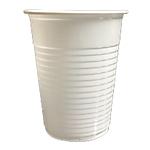 Gobelet en plastique PP 0.2 l 8,4 cm Blanc   100 Unités