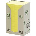 Notes adhésives Post it 51 x 38 mm Recyclées Jaune   12 Unités de 100 Feuilles