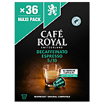 Capsules de café Decaffeinato Espresso CAFÉ ROYAL   36 Unités