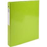 Classeur à anneaux Exacompta 4 anneaux 30 mm Carton + papier pelliculé gauf A4 Vert anis
