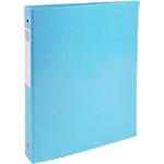 Classeur à anneaux Exacompta 4 anneaux 30 mm Carton + papier pelliculé gauf A4 Bleu tropique