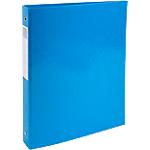 Classeur à anneaux Exacompta 4 anneaux 30 mm Carton + papier pelliculé gauf A4 Turquoise