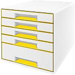 Bloc de classement Leitz WOW 5 tiroirs 28,7 x 36,3 x 27 cm Blanc