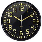 Orium by CEP Horloge silencieuse Contraste 30 x 3 cm Noir, Jaune