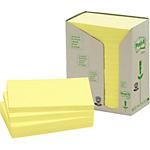 Notes adhésives recyclées Post it 76 x 127 mm Jaune 12 Unités
