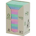 Notes adhésives recyclées Post it Pastel 24 Unités