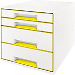 Module à 4 tiroirs Leitz WOW 28,7 x 36,3 x 27 cm Blanc