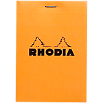 Bloc de bureau Rhodia Bloc Agrafé 8,5 x 11 cm Quadrillé Orange   80 Feuilles