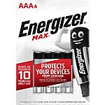 Piles alcalines Energizer Max AAA   4 Unités
