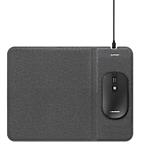 Souris et tapis de souris avec chargement sans fil Sans fil Blaupunkt Noir