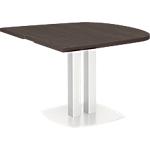 Table demi ovale d'extrémité Gautier Office Xenon 102 x 115 cm Imitation chêne royal
