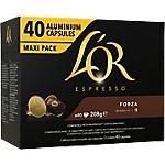 Capsules de café Espresso Forza L'OR   40 Unités