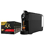 Machine à café + 200 capsules Splendente intensité 7 L'OR Lucente Pro 1.4 L Noir