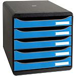 Module de classement Exacompta 5 tiroirs CleanSafe A4+ Bleu